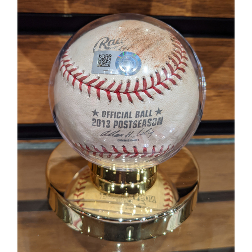 Photo of 2013 ALCS Game 2 Detroit Tigers vs. Boston Red Sox October 13, 2013 Game Used Baseball