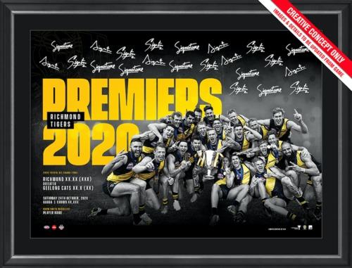 Photo of Richmond 2020 Premiers Framed Sportsprint - Edition Number 19