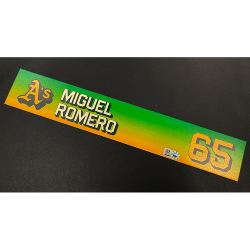 Photo of Team Issued 2020 Locker Nameplate - Miguel Romero