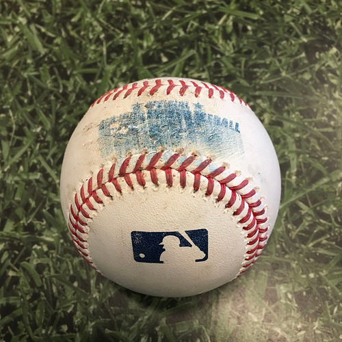 Photo of Game-Used Baseball PIT@MIL 06/13/21 - Brad Boxberger - Ke'Bryan Hayes: Foul