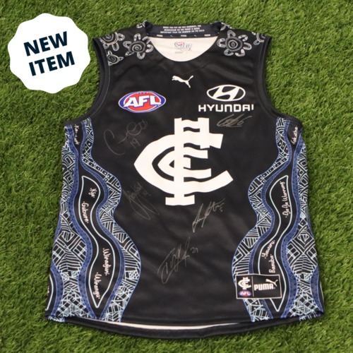 Photo of 2021 Indigenous Guernsey - Signed by Carlton's Indigenous Players Lot #2