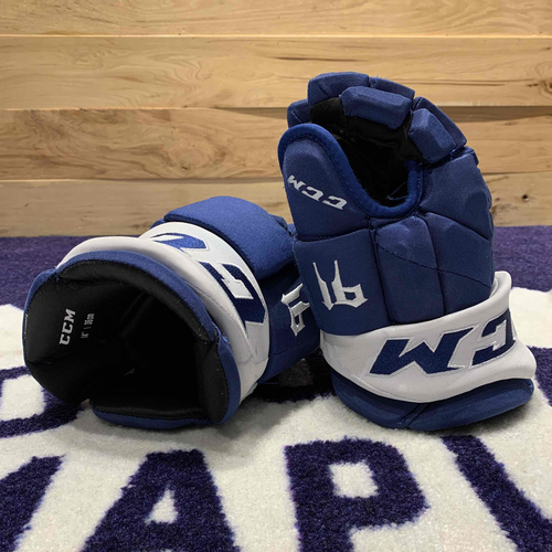 John Tavares 2020-21 Game Worn Gloves (Photo-Matched to 800th NHL Point)