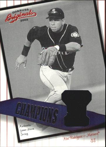 Photo of 2002 Donruss Originals Champions Materials #16 Alex Rodriguez M's/96
