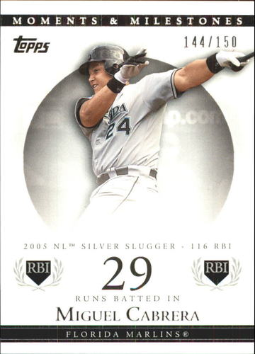Photo of 2007 Topps Moments and Milestones #110-29 Miguel Cabrera/RBI 29