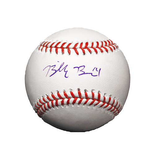 Billy Burns Autographed Baseball