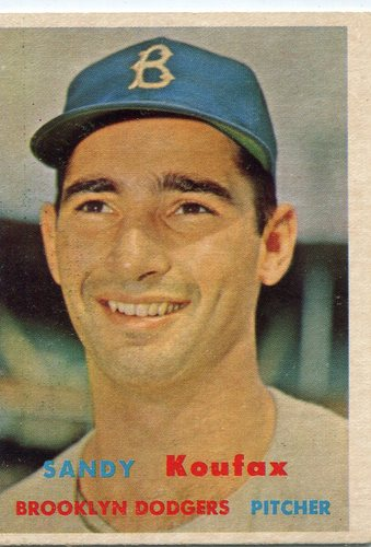 Photo of 1957 Topps #302 Sandy Koufax -- Hall of Famer