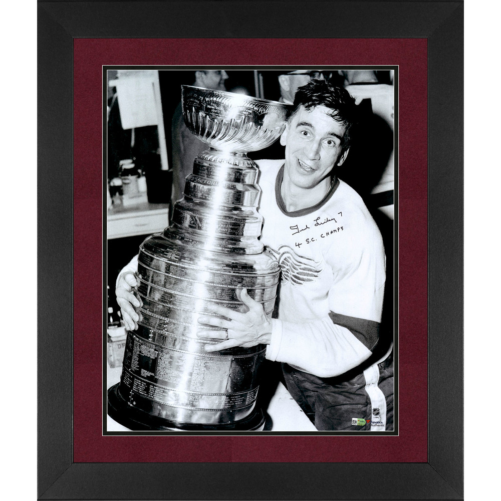 Ted Lindsay Detroit Red Wings Framed Autographed 16