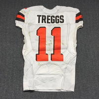 LONDON GAMES - BROWNS BRYCE TREGGS GAME WORN JERSEY (OCTOBER 29, 2017) SIZE 40