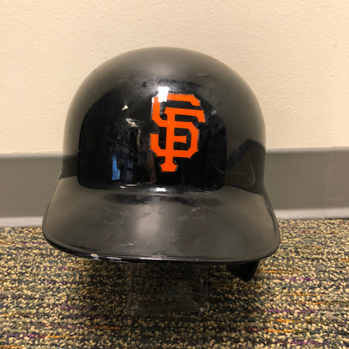 Photo of 2018 San Francisco Giants - Game Used Batting Helmet used by #10 Evan Longoria on 3/27/2018 vs. Oakland A's