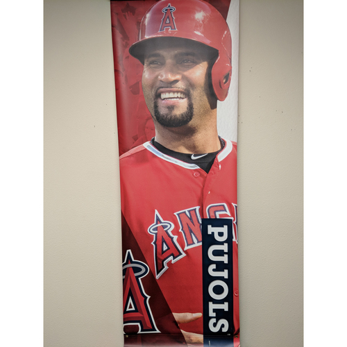Photo of Albert Pujols Team-Issued Street Banner
