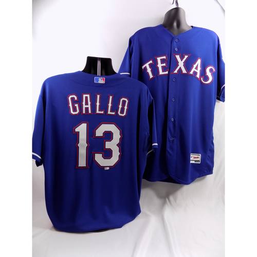 Photo of Joey Gallo Blue Team-Issued Jersey