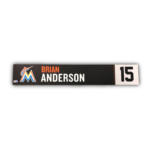 Photo of Game-Used Locker Tag: Brian Anderson