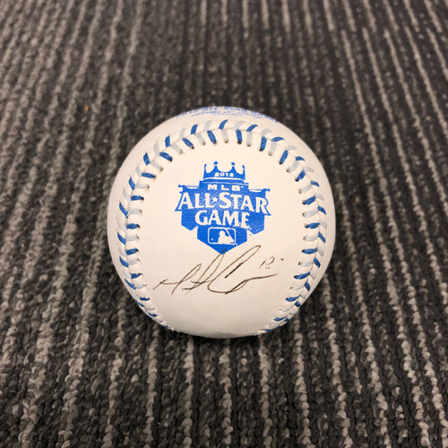 Photo of 2012 Autographed All-Star Game Logo Baseball - #18 Matt Cain