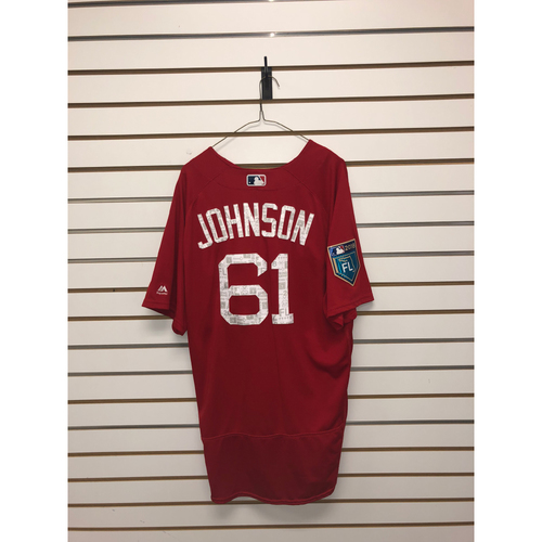 Photo of Brian Johnson Team-Issued 2018 Spring Training Jersey
