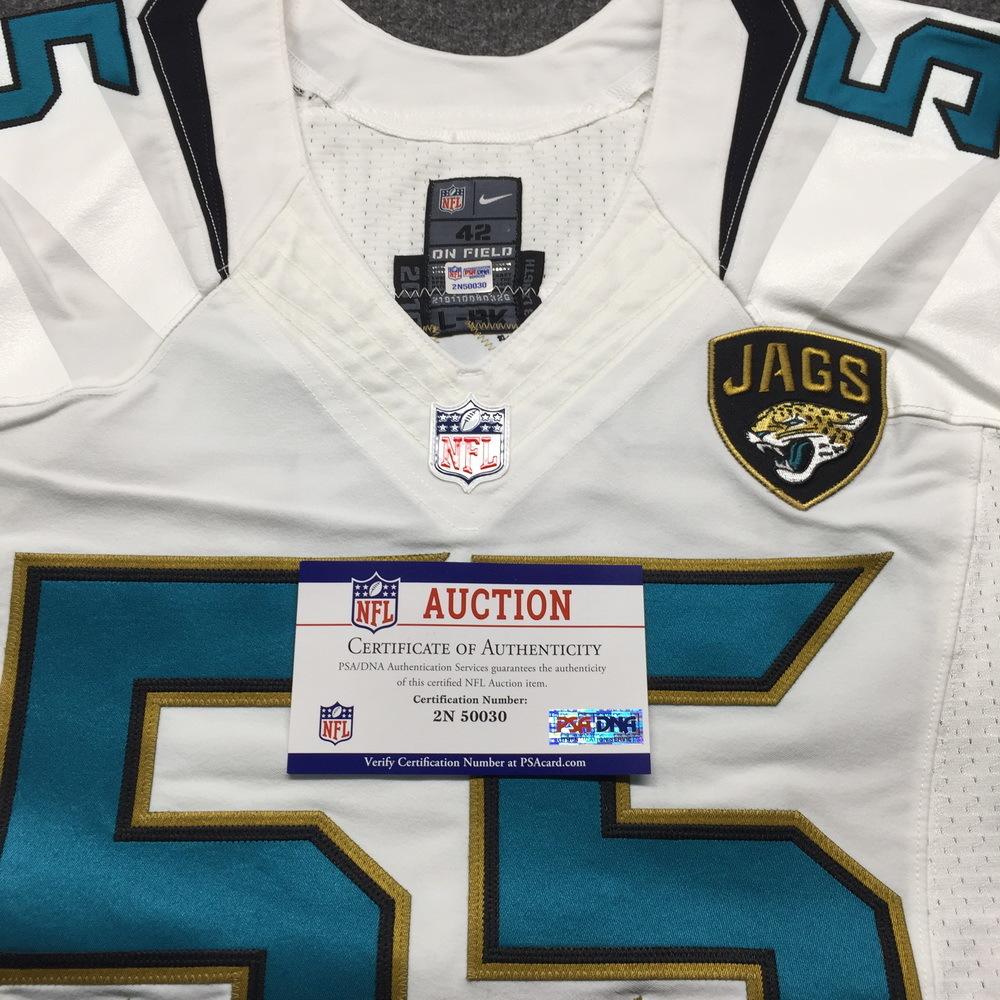 NFL Auction | Jaguars - Dan Skuta Game Issued Jersey Size 42