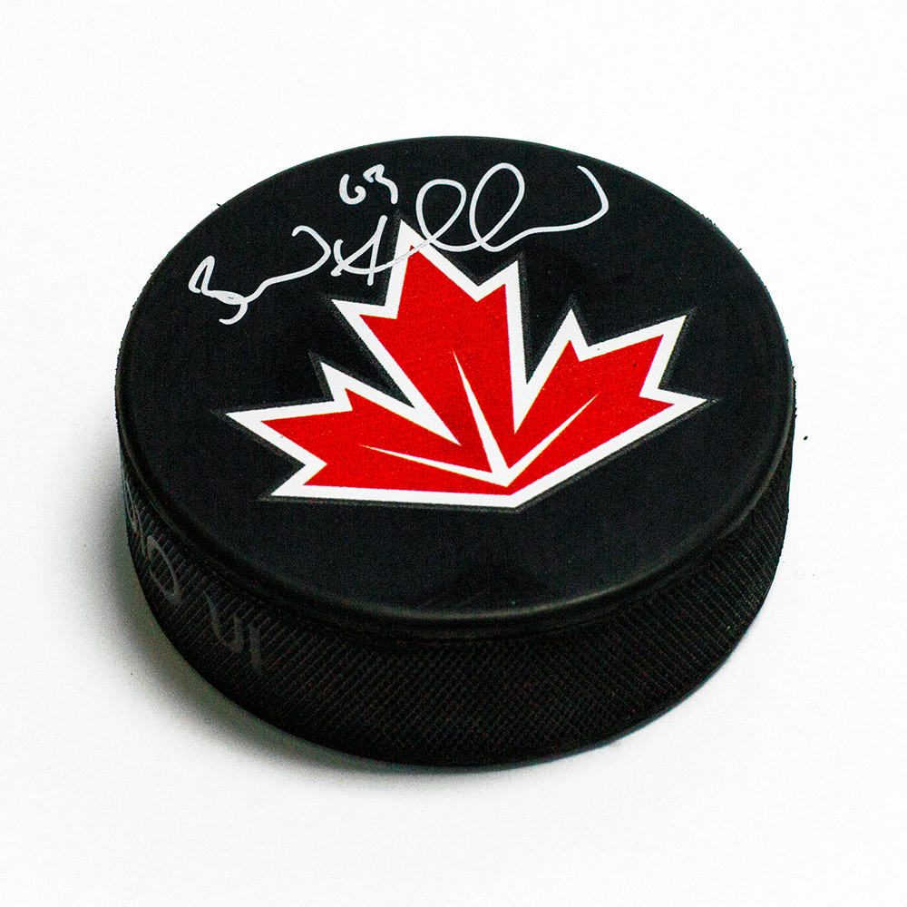 Brad Marchand Team Canada Autographed World Cup of Hockey Puck