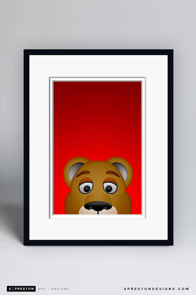 Stanley C. Panther - Framed Limited Edition Minimalist NHL Mascot Art Print (6/350) by S. Preston