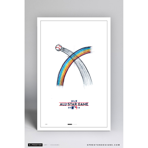Photo of Limited Edition Minimalist Minnesota Twins ASG 2014 Sketch Art Poster Print 107/200 by S. Preston