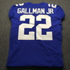 Crucial Catch - Giants Wayne Gallman Jr. Game Used Jersey Washed By Equipment Manager (October 7th, 2018) Size 40