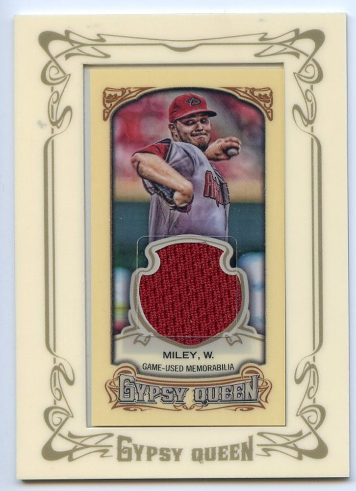 2014 Topps Gypsy Queen Framed Mini Relics #GMRWM Wade Miley