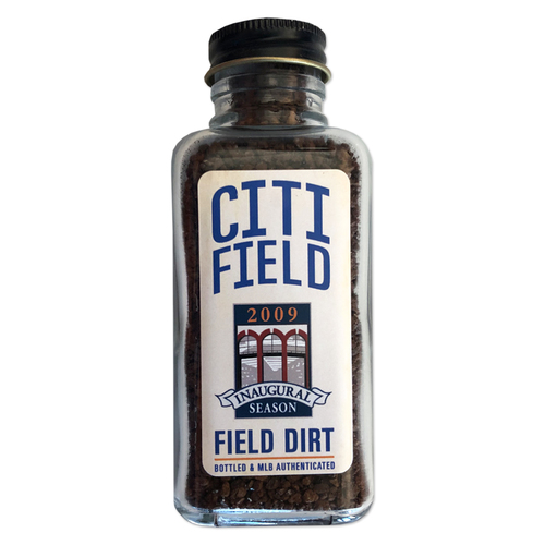 Photo of Game Used Citi Field Dirt Jar - 2009 Inaugural Season - First Mets Regular Season Home Game at Citi Field - Mets vs. Padres - 4/13/09