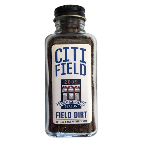 Photo of Game Used Citi Field Dirt Jar - 2009 Inaugural Season - First Mets Regular Season Home Game at Citi Field - Mets vs. Padres - 4/13/09
