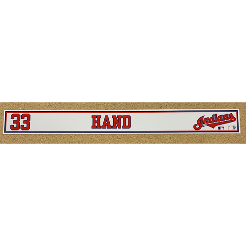 Photo of Brad Hand 2020 Spring Training Game-Used Locker Name Plate