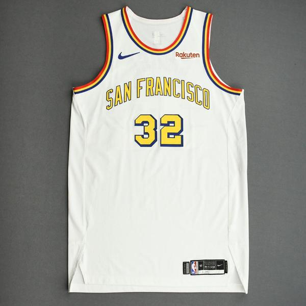 Image of Marquese Chriss - Golden State Warriors - Game-Worn Classic Edition - 1962-63 San Francisco Home Jersey - 2019-20 NBA Season