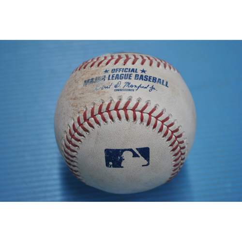 Photo of Game-Used Baseball - 2020 ALCS - Houston Astros vs. Tampa Bay Rays - Game 2 - Pitcher - Lance McCullers, Batter - Randy Arozarena (Single) - Bot 3