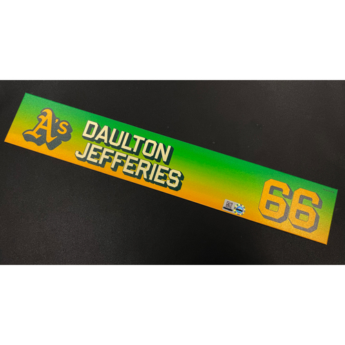 Photo of Team Issued 2020 Locker Nameplate - Daulton Jefferies #66