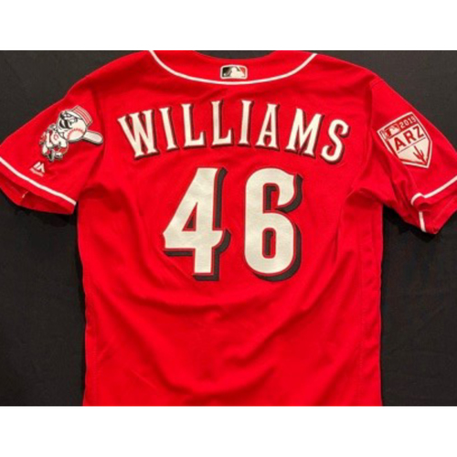 Photo of WILLIAMS -- Authentic Reds Jersey -- $1 Jersey Auction -- $5 Shipping -- Size 44 (Not MLB Authenticated)