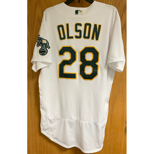 Photo of Game-Used Jersey - Matt Olson (Authenticated for 6 Games; HR #3 & 10)