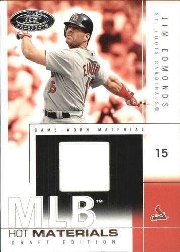 Photo of 2004 Hot Prospects Draft MLB Hot Materials #JE Jim Edmonds Jsy
