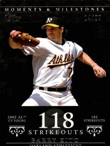 Photo of 2007 Topps Moments and Milestones Black #49-118 Barry Zito/SO 118