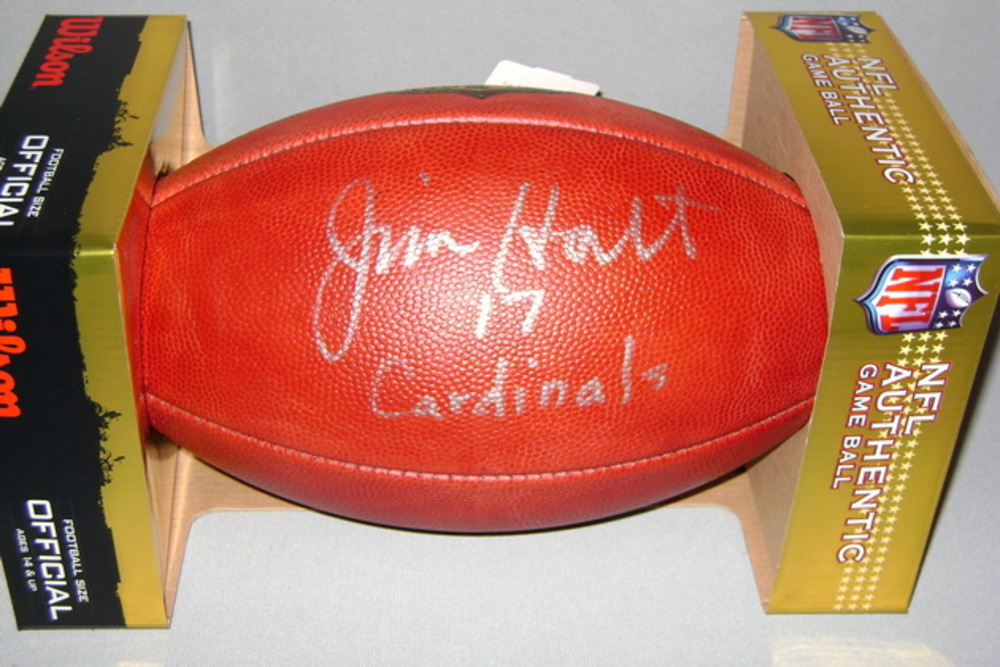 NFL - CARDINALS JIM HART SIGNED AUTHENTIC FOOTBALL