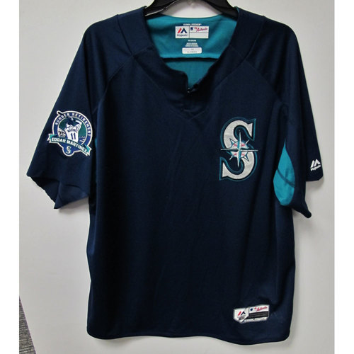 Yonder Alonso Game-Used BP Jersey With Edgar Martinez Patch Worn 8-12-2017