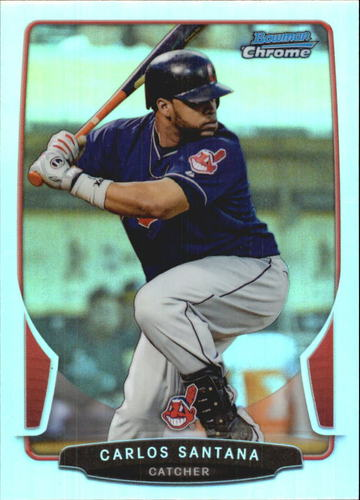 Photo of 2013 Bowman Chrome Refractors #67 Carlos Santana