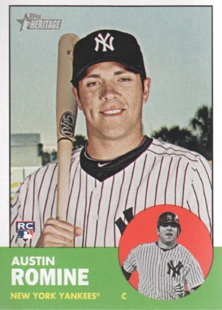 2012 Topps Heritage #92 Austin Romine -- Yankees post-season