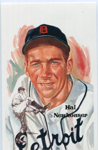 Photo of 1980-02 Perez-Steele Hall of Fame Postcards #214 Hal Newhouser -- HOF Class of 1992