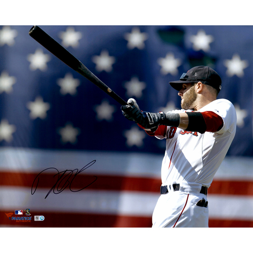 "Photo of Dustin Pedroia Boston Red Sox Autographed 16"" x 20"" Photo"
