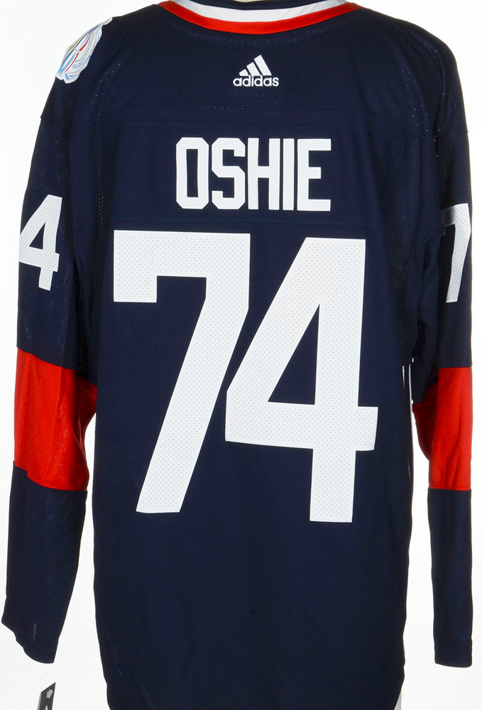 T.J. Oshie Washington Capitals Adidas Team USA 2016 World Cup of Hockey Unsigned Jersey