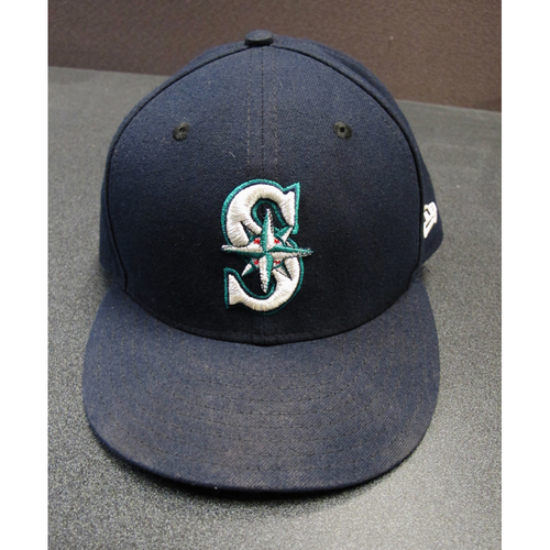 Photo of Mike Zunino Team-Issued Navy Cap 2017. Cap Size - 7 3-8