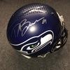 NFL - Seahawks Doug Baldwin signed Seahawks proline helmet (bubbles on helmet stripe decal)