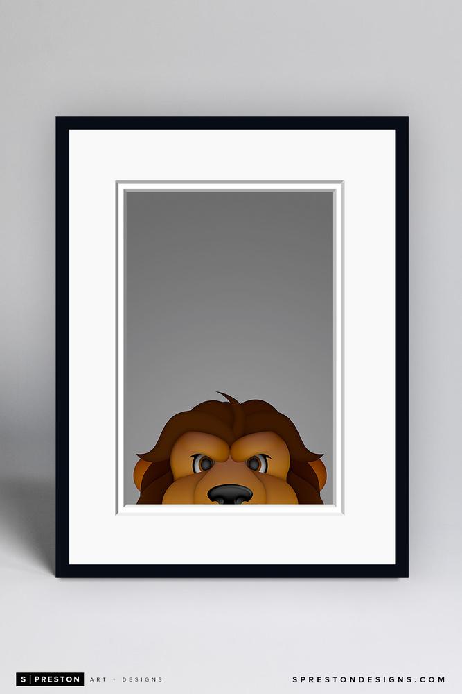 Bailey - Framed Limited Edition Minimalist NHL Mascot Art Print (6/350) by S. Preston