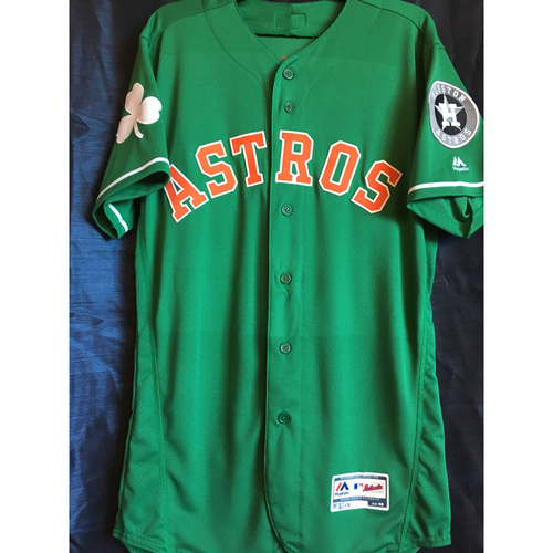 Photo of Tony Kemp Team-Issued 2019 St. Patrick's Day Jersey