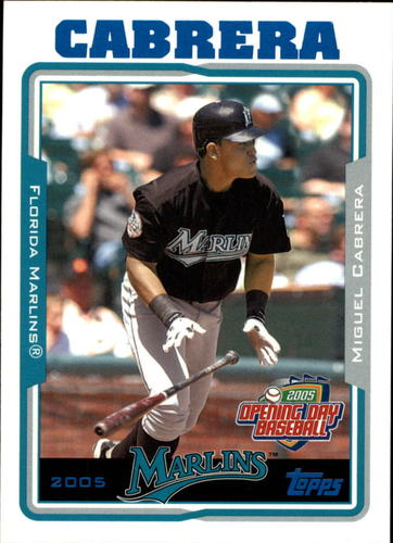Photo of 2005 Topps Opening Day #55 Miguel Cabrera