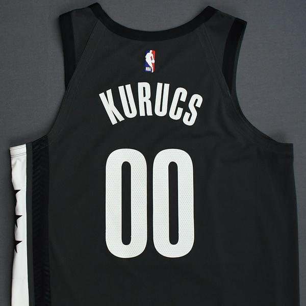 Brooklyn Nets Rodions Kurucs Statement Black Swingman Jersey