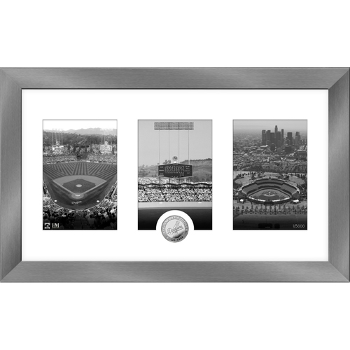 Photo of Los Angeles Dodgers Art Deco Silver Coin Photo Mint