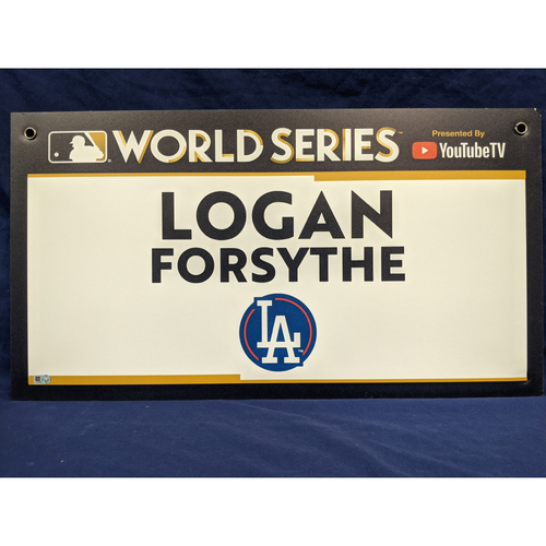 Photo of Team-Issued Logan Forsythe 2017 World Series Media Sign