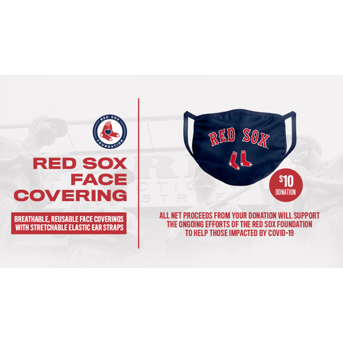 Photo of 'Socially Distant' Red Sox Face Covering Fundraiser